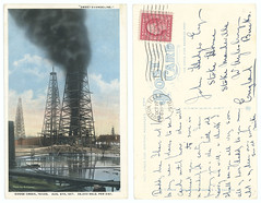 'Sweet Evangeline.' Goose Creek, Texas. Aug. 5th, 1917. 35,000 Bbls. Per Day. (SMU Central University Libraries) Tags: oilfields oilindustryworkers oilwelldrillingrigs petroleum