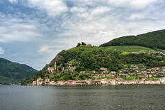 Ceresio lake (Ticino, Switzerland) (clodio61) Tags: ceresio europe lugano santamariadelsasso switzerland ticino church coast color day green hill house lake landscape nature outdoor photography summer town view village water