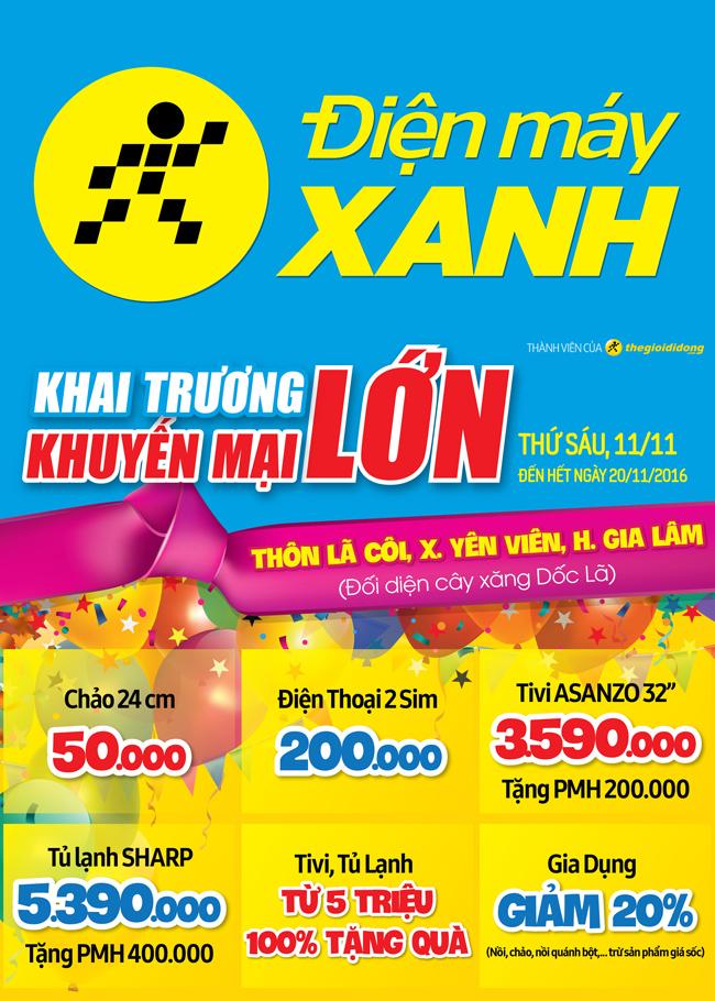 Khai trương siêu thị Điện máy XANH Yên Viên, Hà Nội