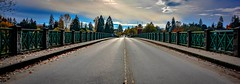 Vanishing 'point of interest' c. 1909 (Images by Christie  Happy Clicks for) Tags: kwantlenfirstnation fort langley jacobhaldibridge 1909 fortlangley bc canada bedfordchannel fraserriver clouds observationtower firstnation mcmillanisland townshipoflangley nikon d5200 bridge pov autumn