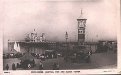 central pier and clock tower (morecambememories) Tags: centralpier morecambe morecambecentralpier