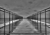 Reflection Perspective Line Pier (Bkutlak H.D) Tags: reflection perspective light long line lines landscape creative collection composition cloud curves clouds curved capture sky sea shadow shadows pier black bw white wb work water blackandwhite vanishpoint corner angles