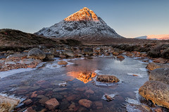 Iced (David Ball Landscape Photography) Tags: scotland glencoe visitscotland sunrise reflections reflection ice frost snow canon travel adventure light landscape landscapes photography outdoors davidballlandscapephotography 2016 glenetive water river winter cold weather buachailleetivemr