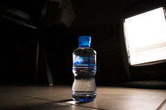 Water (ImKruz) Tags: water arwa bottle waterbottle dark background beautiful