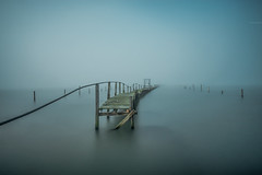 The Jetty (Jonny_Royale) Tags: jetty poole bournemouth forest jurassic coast england south path sandbanks weather fog rain storm broken wood boats missing atmospheric colour epic rare canonflickraward