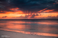 Sunset at Laxmanpur Beach (Bharat Baswani) Tags: laxmanpur lakshmanpur beach andamans andaman nicobar islands dusk orange hues colors energy drama landscape sand clouds neil island incredibleindia dramatic vibrant tourism