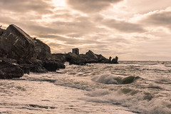 The Northern Forts (`TOMS`) Tags: latvia liepaja latvija northern forts ziemeļu forti sky clouds water baltic sea stone concrete waves outdoor landscape nature afsdxnikkor35mmf18g 35mm f18g f18 nikon nikkor d3200
