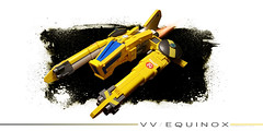 VV / EQUINOX - nnovvember 2016 (Brixnspace) Tags: vic viper vicviper banana equinox yellow spaceship arcade vv nnovvember novvember lego moc space ship starfighter