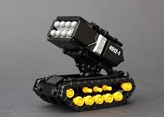 Blacktron 'Wolverine' Assault Tank (Legoloverman) Tags: lego black newelementary blacktron wolverine tank