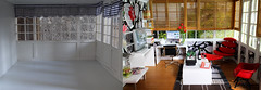 study before after (lauradavison) Tags: house scale modern miniature model doll box room lounge before study after 112 dollhouse dollshouse