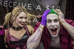 damaged (timp37) Tags: world summer chicago illinois comic cosplay wizard suicide august harley rosemont batman quinn joker squad damaged villain con 2015 conlife