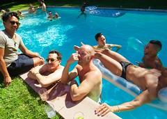 IMG_0268 (danimaniacs) Tags: shirtless man hot guy fun muscle muscular hunk swimmingpool raft trunks speedo float swimsuit stud bulge