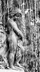 Pondering water (Litratistica Images NYC) Tags: park nyc newyorkcity blackandwhite newyork water fountain monochrome rain child centralpark monochromatic canonef2470mmf28lusm canoneos5d earldolphy litratisticaimages