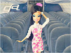 "Maxine's My New BFF 3- Week 10 ""Rural Reality"" - Flight Attendant - Jenny Junn (Bratzjaderox) Tags: pink blue girl airplane drag doll dolls fierce jenny flight barbie retro queen airways gia dolly stewardess jai mga diva attendant mattel judi gunn bratz sickening fishy glamorous myscene hunty mgae bff3 junn glamazonian"