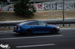 Audi RS6 C6 Sedan. (Stefan Sobot) Tags: blue car race sedan nikon serbia fast exotic german belgrade audi luxury rare beograd supercar matte c6 rs6 srbija hamma d7000
