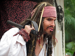 Captain Jack Sparrow (meeko_) Tags: world show jack florida magic kingdom disney entertainment sparrow pirate captain characters waltdisneyworld jacks walt themepark tutorial magickingdom piratesofthecaribbean adventureland disneycharacters captainjacksparrow captainjackspiratetutorial