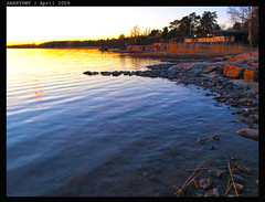 sand line ... (harrypwt) Tags: reflection nature helsinki coastal munkkiniemi 1454 e520 harrypwt