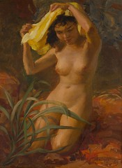 Amorsolo: Nude (Leo Cloma) Tags: art furniture antique auction philippines auctions filipino antiques salcedo cloma