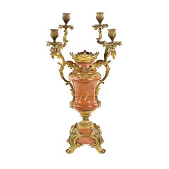 François Linke (1855-1946) Gilt Bronze and Marble Centerpiece (thehighboy) Tags: lighting miami antiques collectibles highboy candelabras giltbronze decorativeaccessories françoislinke marblecenterpiece
