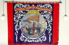 Emancipation of Labour (Snapshooter46) Tags: banner countydurham beamishmuseum nationalunionofmineworkers durhamarea hobsonlodge
