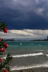 stormy beach (GEO_Matt) Tags: italien sky italy holiday storm water weather riva urlaub vacanze lagodigarda gardasee