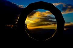 Sunset (heathernewman) Tags: autumn sunset colour clouds dark evening walk bluesky orangesky longleat brightcolour