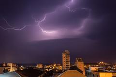 Thunder (Leandro Budzinski) Tags: lighting sky storm night raios timelapse nikon cu noite lightning thunder tempestade d3200