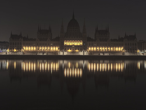 The Hungarian Parliament at Dawn