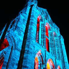 Perception (little_frank) Tags: show blue windows light building halloween monument beautiful beauty architecture night facade contrast standing rising perception amazing fantastic ancient glow glare symbol magic prayer religion gothic ruin dream azure philosophy landmark icon medieval haunted special memory laser destination glowing christianity remembrance fabulous past majestic incredible middleages archs recall touristattraction northyorkshire imposing splendid towering supernatural outstanding whitbyabbey marvellous holdon spectacle englishheritage standingstill architectonics 31october whitbygothweekend benedictineabbey littlefrank imponence abbaziadiwhitby worldlight marcofranchino abadiadewhitby abbayedewhitby abadadewhitby pillarsoftheearh theilluminatedabbey