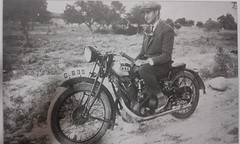 a typical greek ''sportsman'' at 1930s (a tear for you greece) Tags: vintage greek 1930s war greece pre motorcycle british sportsman bsa greeks motorists sloper