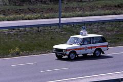 Miners Strike 1984 Police Range Rover (asdofdsa) Tags: transport 1984 trucks pentaxmesuper rangerover convoy policeescort minersstrike