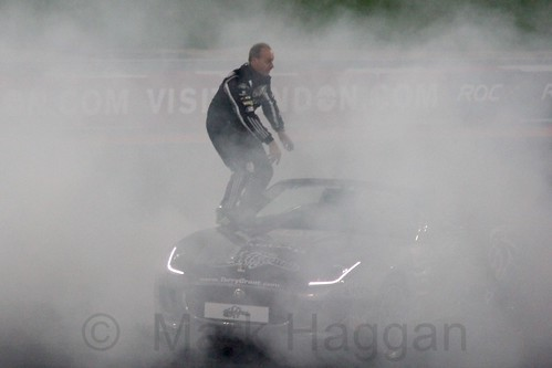 Terry Grant shows off his skills at The Race of Champions, Olympic Stadium, London, November 2015