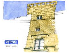 Trapani (gerard michel) Tags: italia sicilia trapani architecture renaissance palais sketch croquis aquarelle watercolour