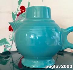 Vintage turquoise Fiestaware candle holder (pugluv2003) Tags: vintage candle turquoise fiestaware holder