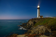 Crystal Clear - Pigeon Point Lighthouse (andispin1962) Tags: california lighthouse seascape beach stars coast cliffs fullmoon pacificocean starlight pigeonpointlighthouse darvin atkeson darv liquidmoonlightcom