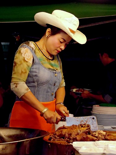 Cowboy hat lady makes the best khao kha moo in town.