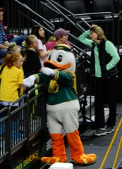 The Duck, UO womens basketball (LarrynJill) Tags: game basketball ball athletics or ducks eugene uo universityoforegon