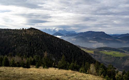 View at Snow-Mountain (Schneeberg) in Austria. Shot from Waldeggerhaus/Hohe Wand.