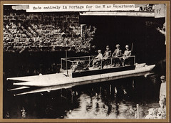 Canal Pontoon Boat Made in Portage for War Dept