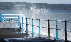 3/365 Sea Blues - 365 Project 2 - 2016 (Helen) (dorsetbays) Tags: blue winter sea england storm pier waves wave spray dorset 365 rough weymouth seaspray 2016 stonepier 365project aphotoadayforayear second365project