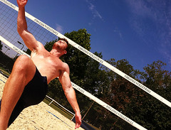 Bicycle Kick (nemo_434) Tags: men shirtless volleyball hairy