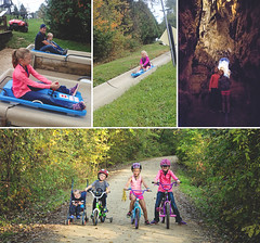 365 Project - Oct 16 (lupe1515) Tags: 365 project henry cave slide siblings olivia hannah aj bikes heritagetrail alpineslide