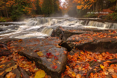Bond Falls (jmac_100) Tags: bond falls water fall haight township upper peninsula michigan river autumn leaves color tamron 1024