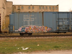 11-06-11 (29) (This Guy...) Tags: graf graff graffiti train car traincar rail road railroad rr box boxcar 2011 much tci