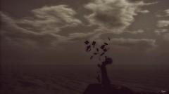 but my words like silent raindrops fell... (Morrigan Outlander) Tags: secondlife sl avatar virtual virtualworld monochrome blackwhite dark night clouds ocean view blond song music feelings emotions moment cvposes tableauvivant gacha sheetmusic paper flyingpaper breeze wind silence guitar whatnext maitreya kalopsia drd luanesworld woman female ipiccy