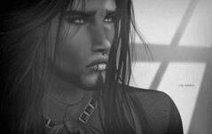 """Appear weak when you are strong, and strong when you are weak."" (Roy Mildor CEO of RM ~Art of poses ~) Tags: roymildor photography monochrome profile sl secondlife art schwarzweiss head closeup man mann portrait portrt"