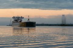 16-7402 (George Hamlin) Tags: minnesota duluth ship boat american integrity laker self unloader predawn sky clouds water harbor port reflection photo decor george hamlin photography