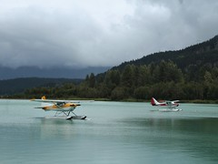 Green Lake - Whistler (phil_king) Tags: aeroplanes aircraft airplanes aviation british canada columbia float forest green lake mountains plane planes water whistler floatplanes seaplanes