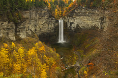 Taughannock Falls (Matt Champlin) Tags: fall autumn waterfall water gorge glen ny cny ithaca taughannockfalls taughannockfallsstatepark overlook huge towering amazing colorful beautiful fingerlakes cayugalake canon 2016