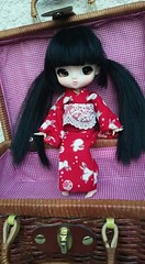 I'm so pleased with how cute she turned out!! Just like I'd imagined... (Emily Emily!) Tags: yeolume yoko custom customized pureneemoxs white rebodied rewigged blackhair pigtails rechipped asianeyes browneyes faceup kimono red bunnies basket littlegirl japanesegirl dainty cute precious